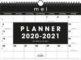 School maandkalender Basic Hobbit schoolplanner A4 D2 2020 - 2021 (formaat A4) zwart
