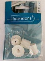 Intensions roedesteun - Ø13 mm - wit - 2 stuks (in de dag)