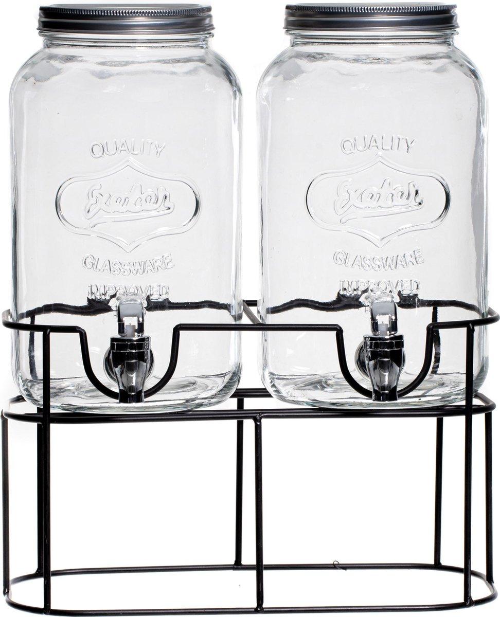 Sareva Drank Dispenser met houder   Sapdispenser   Limonadedispenser   Limonadetap   2 x 3 Liter