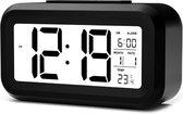 YONO Digitale Wekker - Alarm Klok met Temperatuur, Kalender en LED Verlichting - Zwart