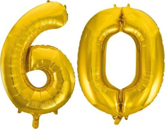 Folieballon nr. 60 Goud 86cm