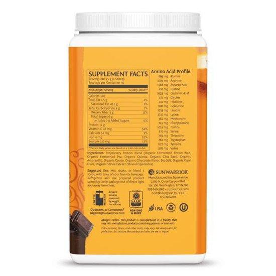 Sunwarrior Proteïne Classic Plus - Chocolade - 750 gram