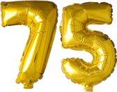 Folieballon nr. 75 Goud 41cm