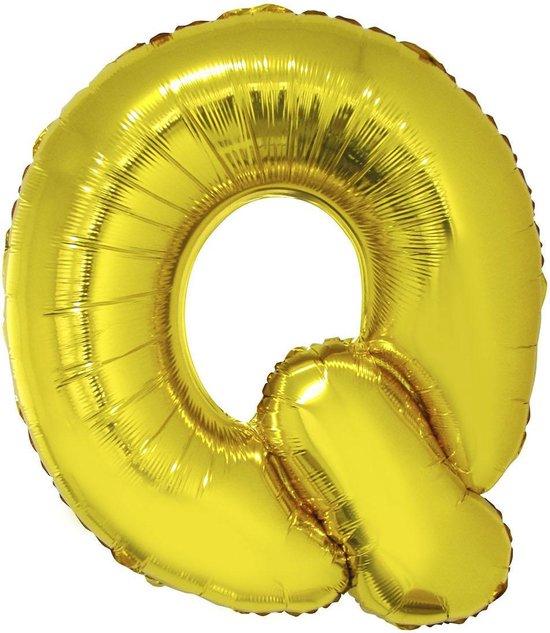 Grote folie ballon letter Q Goud