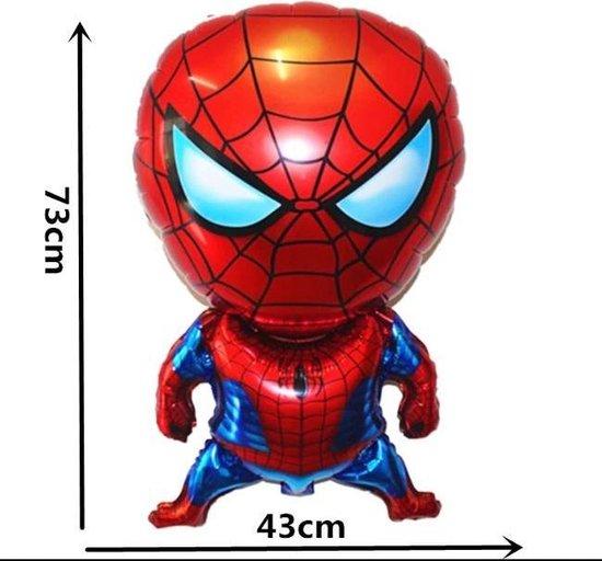 Grote Folieballon Spiderman 73x43cm – incl. opblaasrietje - Verjaardag Decoratie