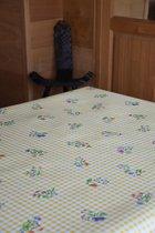 Zomerse Tafellakens - Tafelzeil - Tafelkleed - Duurzaam - Waterafstotend - Gemakkelijk in onderhoud - Opgerold op dunne rol - Geen plooien - Bloem Geel - 140cm x 160cm
