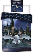 Harry Potter Hedwig Dekbedovertrek - Eenpersoons - 140 x 200 cm - Flanel