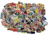 Laptopstickers Vinyl Pack (100 stuks). Graffiti stickers voor je laptop, fiets, auto, deuren, PS4, skateboard, snowboard, badkamer, helm, ramen, agenda, bumper, koffer, Macbook, iPad, Nintendo, boeken, smartphone en nog veel meer!