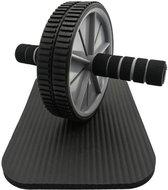 Kaytan-Fitness wiel met Knie Mat-Ab Roller inclusief Knie mat-Buikspiertrainer met wiel-Buikspier Wiel-Zwart