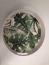 Dienblad met grote bladeren patroon