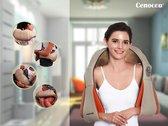 Cenocco Shiatsu massager pro - nekmassage kussen voor heel het lichaam - infrarood