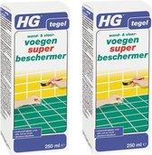 HG wand en vloervoegen super beschermer Dé optimale voegenbeschermer 250 ml - 2 Stuks !