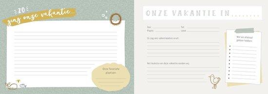 Ons vakantieboek - invulboek voor vakantieherinneringen - reisdagboek voor het gezin
