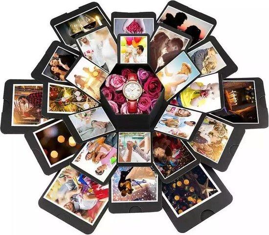 Explosion Box   Explosie Fotodoos   Explosie Foto Doos   Explosion Photo Box   Surprise Fotobox   Gift Box   DIY   Cadeau voor geliefde   Valentijn Cadeau   Cadeau voor vrouw   Cadeau voor man   Cadeau voor vrouw