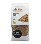 RAW Organic Food Biologische Gebroken Lijnzaad (Doos van 8 verpakkingen van 500 gram)