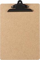 LPC  Klembord - clipboard - hout/mdf/hardboard- A4 -145 mm butterfly klem zwart