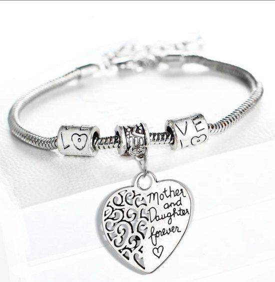 Onwijs bol.com | Mother and Daughter forever bedel armband| moeder LB-32