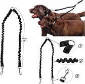 Merchannice Dubbele Hondenriem - One Size - Zwart