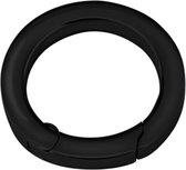 Quiges - RVS Verbindingsring Zwart 22mm voor Kettingen en Hanger - EPC012