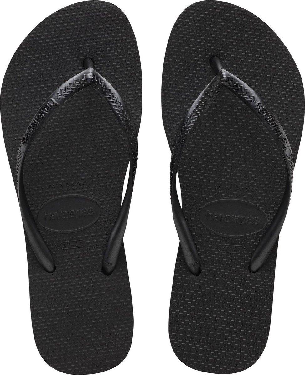 Havaianas Slim Flatform Dames Slippers - Black - Maat 37/38