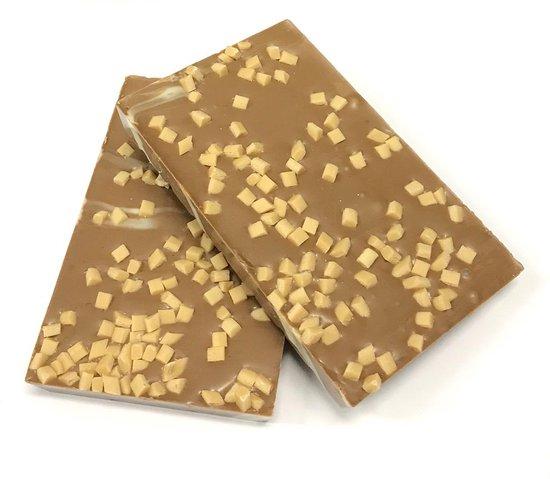 Joe & Mien Ambachtelijke Chocolade reep - Karamel - Melk - 2 x 135 gram