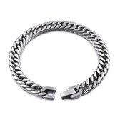 Zilver kleurige Heren Armband   Cuban Link   Staal   7mm   Armband Mannen   Armband Heren   Mannen Cadeautjes   Cadeau voor Mannen