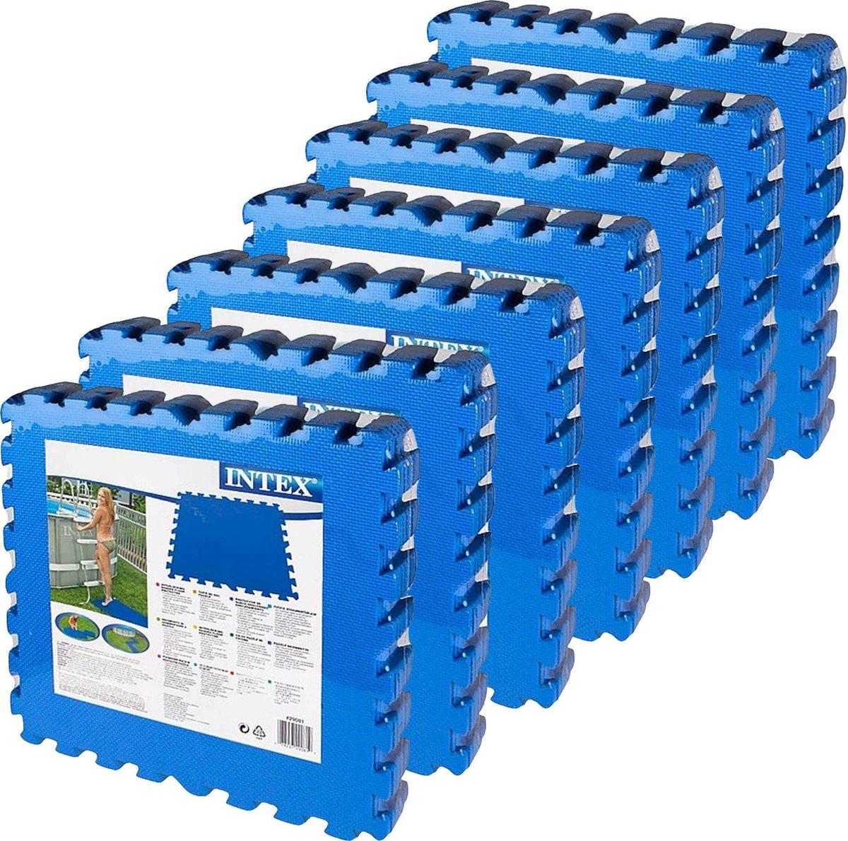 Intex - zwembad tegels - blauw - 50 x 50 cm - 56 tegels - 14 m2 - zwembad ondertegels