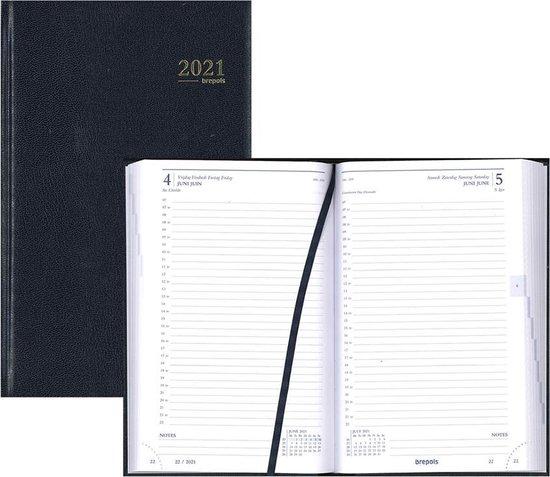 Afbeelding van Brepols Agenda 2021 • Saturnus luxe • Lima • 13,3 x 20,8 cm • Blauw