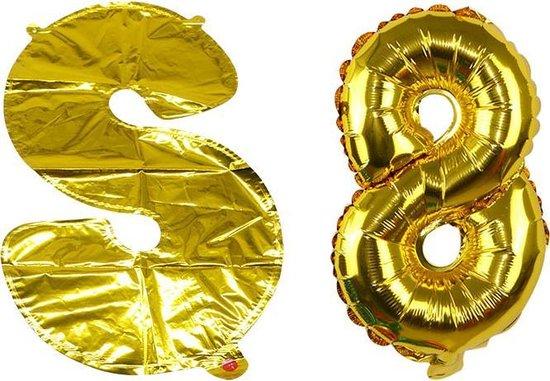 Ballon Goud Cijfer 8