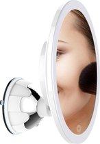 Innovision Make up spiegel met verlichting en zuignap - 360° verstelbaar - 10x vergroot