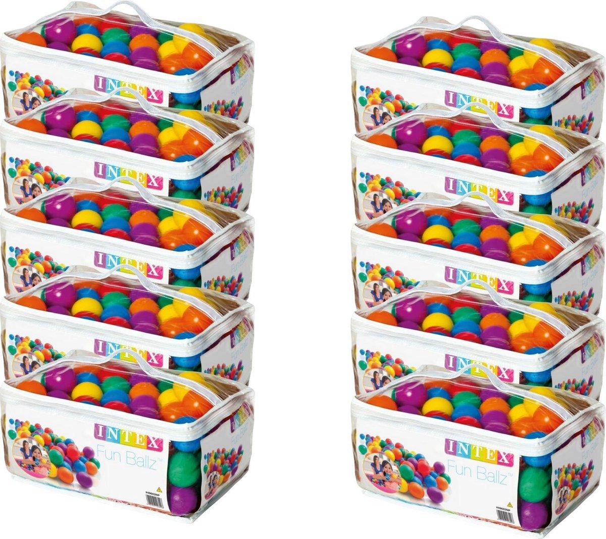 Intex - ballen voor de ballenbak - 1000 ballen - voordeelverpakking - voor kinderen vanaf 3 jaar