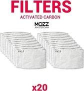 Extra stof filters - 20 stuks voor Mondkapje / mon