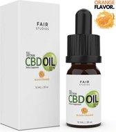 CBD Olie 5% - 500MG Full Spectrum CBD - 100% Biologisch - 0% THC - Met Sinaasappelsmaak - Tegen Slaapproblemen, Pijn, Stress & Angst - FAIR Studios - 10ML - Natuurlijke Hennepolie