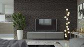 VIGO I Zwevend TV Meubel  - TV Meubel Hoogglans grijs / wit - TV Kast Meubel - Modern Design - 30x180x40 cm