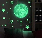 Glow in the dark sterren en maan stickers | Kinderkamer | Lichtgevend | Sticker | Kinderen | Glow in de dark | Muurstickers | Sterren | Nacht | Sterrenhemel | Decoratie