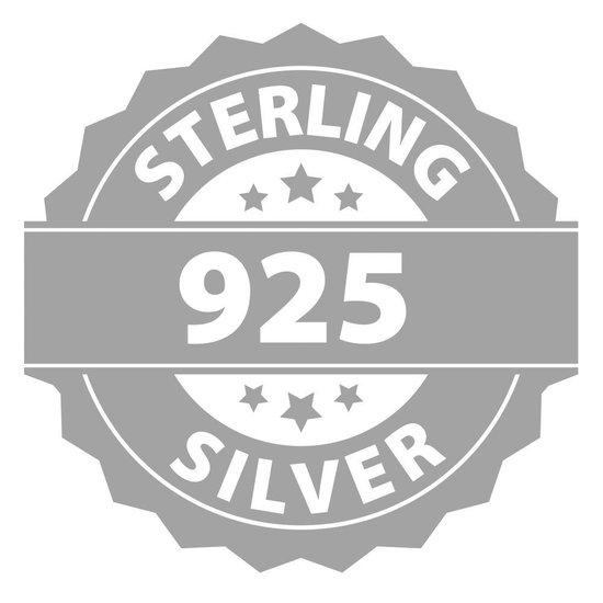 Montebello Oorbellen Sagittaria - 925 Zilver Gerhodineerd - Veer - 16mm - Montebello