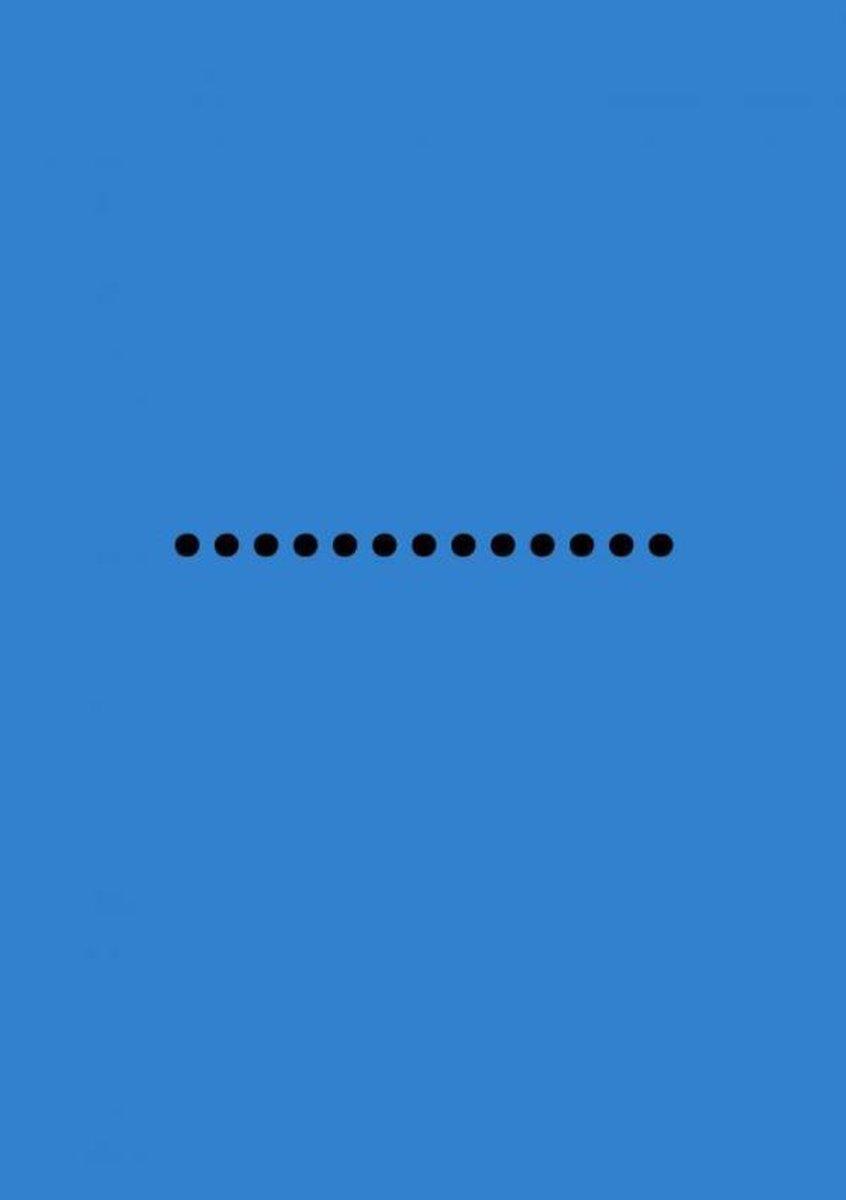 Bullet Journal notitieboek-Medium (A5) Zachte kaft-Blauw Zwart- Allets Comfort