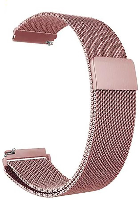 Horlogeband van RVS voor Shinola   22 mm   Horloge Band - Horlogebandjes  Rose Pink