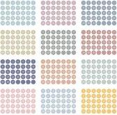 Planning sticker - Rond licht gekleurd - Agenda stickers
