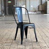 Tolix Retro Café stoel zwart