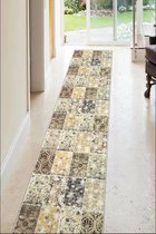 Zethome bruin patroon binnen modern (Vloer) loper tapijt 100x150