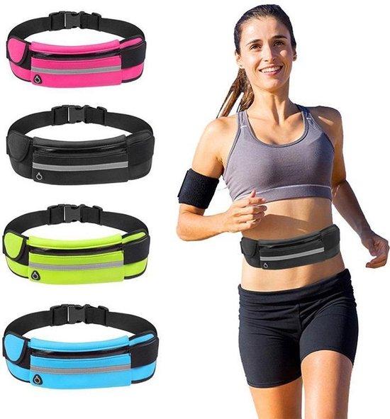 Running bag - Heuptasje sport – running belt – hardloop heuptas - verstelbare buideltas - zwart