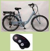 Elektrische fiets 26 inch | 25km/u ondersteuning |Ebike dames & heren | 7 versnellingen | 1 jaar garantie