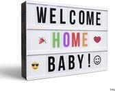 Gadgy Lightbox A4 nieuw - met 85 gekleurde letters + 85 zwarte letters + 40 emojis + 38 speciale letters met leestekens – 30 x 22 x 6 cm. - met USB kabel