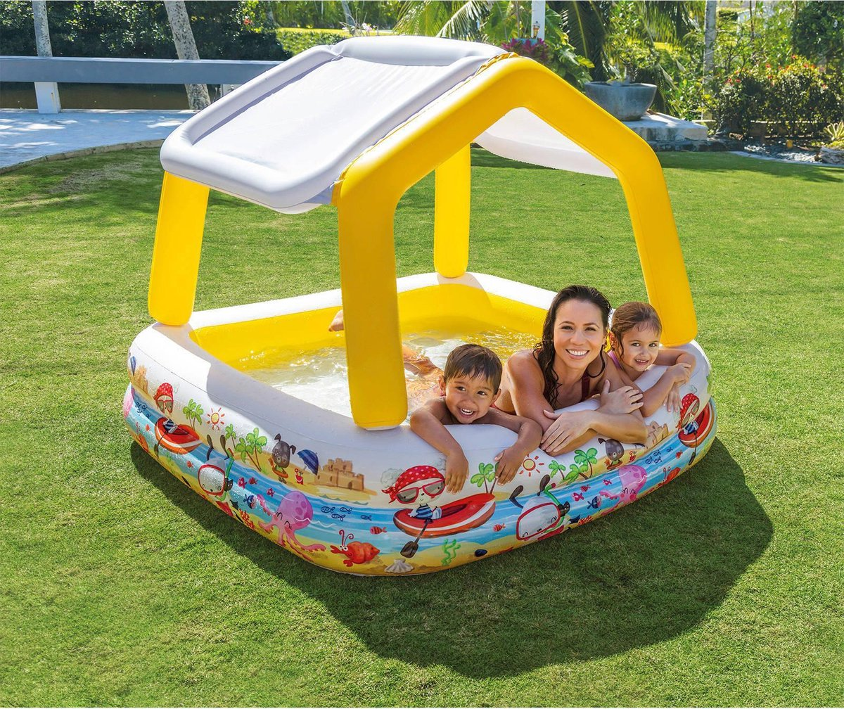 Intex Speelbad met zonnescherm