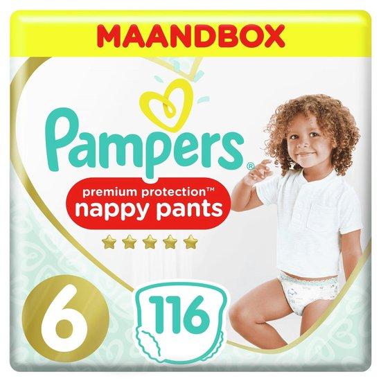 Pampers Premium Protection Pants Luierbroekjes - Maat 6 (+15 kg) - 116 Stuks - Maandbox