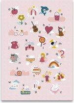 Mijn alfabet poster roze 50 x 70 cm
