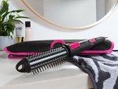 Keramische multi-HairStyler, te gebruiken als ronde borstel, krultang en stijltang, - 2 warmtestanden - inclusief reistas - met draaifunctie