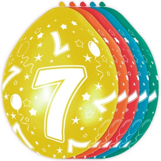 Ballonnen 7 Jaar Versiering 30cm 5st