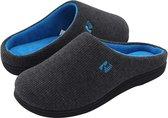 Pantoffels Heren - Sloffen - Maat 44/45 - Grijs - Anti-slip - Comfeet